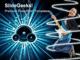 Sound Burst Music PowerPoint Templates And PowerPoint Backgrounds 0311