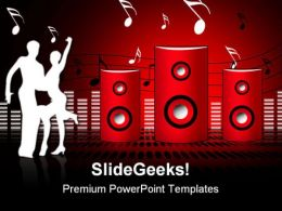 Soundburst Speaker Music PowerPoint Templates And PowerPoint Backgrounds 0811
