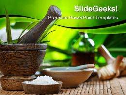 Spa And Ayurvedic Beauty PowerPoint Backgrounds And Templates 1210