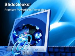 Space Computer PowerPoint Templates And PowerPoint Backgrounds 0211