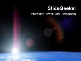 Space Sunrise Science PowerPoint Templates And PowerPoint Backgrounds 0611