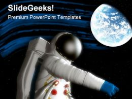 Spaceman With Planet Geographical PowerPoint Templates And PowerPoint Backgrounds 0811