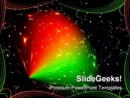 Sparkling Space Abstract PowerPoint Templates And PowerPoint Backgrounds 0711