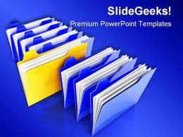 Special Folder Business PowerPoint Background And Template 1210