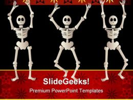 Spooky Skeletons Science PowerPoint Templates And PowerPoint Backgrounds 0611