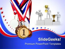 Sports Medals Success PowerPoint Templates And PowerPoint Backgrounds 0711