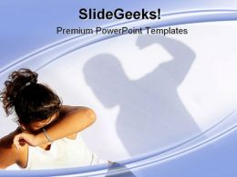 Spousal Abuse People PowerPoint Backgrounds And Templates 1210