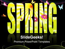 Spring Abstract Background PowerPoint Templates And PowerPoint Backgrounds 0811