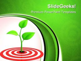 Sprout On Target Business PowerPoint Templates And PowerPoint Backgrounds 0811
