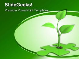 Sprout Puzzle Nature PowerPoint Template 0910
