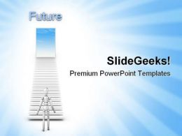 Stairs To Future Success PowerPoint Templates And PowerPoint Backgrounds 0811