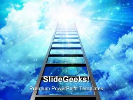Stairway Success Leadership PowerPoint Templates And PowerPoint Backgrounds 0811