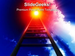 Stairway To Heaven Leadership PowerPoint Templates And PowerPoint Backgrounds 0811