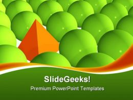 Stand Out From Crowd Shapes PowerPoint Templates And PowerPoint Backgrounds 0411