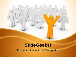 Stand Out Leadership PowerPoint Templates And PowerPoint Backgrounds 0511