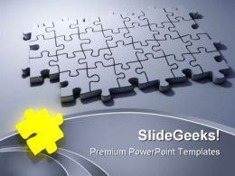 Stand Out Puzzle Shapes PowerPoint Templates And PowerPoint Backgrounds 0711