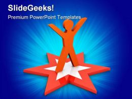 Star Employee Business PowerPoint Templates And PowerPoint Backgrounds 0211