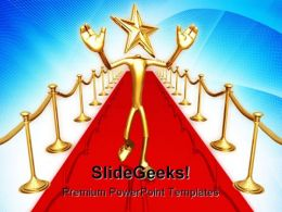 Star Of The Red Carpet Success PowerPoint Templates And PowerPoint Backgrounds 0311