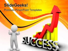 Statistics Graph With Success Business PowerPoint Templates And PowerPoint Backgrounds 0811