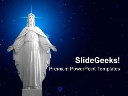 Statue Of Jesus01 Religion PowerPoint Templates And PowerPoint Backgrounds 0811