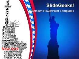 Statue Of Liberty Americana PowerPoint Templates And PowerPoint Backgrounds 0311
