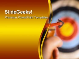 Steady Aim Success PowerPoint Templates And PowerPoint Backgrounds 0611