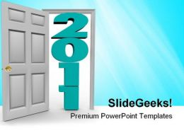 Stepping Through Door Metaphor PowerPoint Templates And PowerPoint Backgrounds 0611