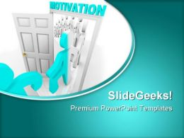 Stepping Through Motivation Business PowerPoint Templates And PowerPoint Backgrounds 0811