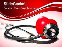 Stethoscope And Heart Medical PowerPoint Templates And PowerPoint Backgrounds 0211