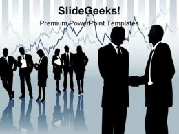 Stock Broker Business PowerPoint Background And Template 1210