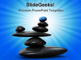 Stone In Balance Business PowerPoint Backgrounds And Templates 1210