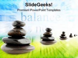 Stones Balance Business PowerPoint Templates And PowerPoint Backgrounds 0511