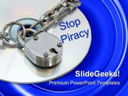 Stop Piracy Security PowerPoint Templates And PowerPoint Backgrounds 0111