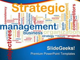 Strategic Management Business PowerPoint Template 0810