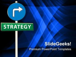 Strategy Signpost Business PowerPoint Template 1110