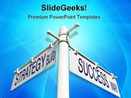 Strategy Success Metaphor PowerPoint Templates And PowerPoint Backgrounds 0811