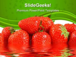 Strawberries Food PowerPoint Templates And PowerPoint Backgrounds 0211