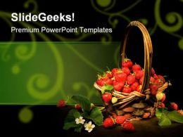 Strawberry Basket Food PowerPoint Templates And PowerPoint Backgrounds 0211