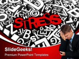 Stress Business PowerPoint Background And Template 1210