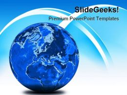 Stripe Blue World Globe PowerPoint Templates And PowerPoint Backgrounds 0211