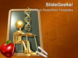 Student Studying Dna People PowerPoint Template 0810