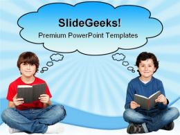 Student Thinking With A Book Education PowerPoint Templates And PowerPoint Backgrounds 0311