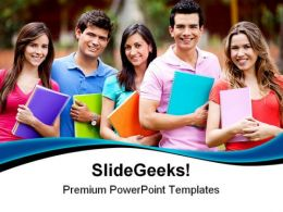 Students Group Education PowerPoint Templates And PowerPoint Backgrounds 0411