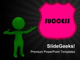 Success Badge People PowerPoint Backgrounds And Templates 0111