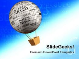Success Balloon Abstract PowerPoint Templates And PowerPoint Backgrounds 0811  Presentation Themes and Graphics Slide01