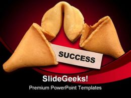 Success Cookies Business PowerPoint Template 0810