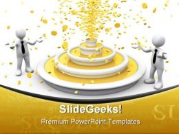 Success Gold Business PowerPoint Backgrounds And Templates 1210