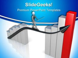 Success Graph Business PowerPoint Background And Template 1210