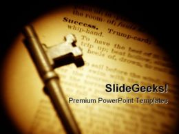 Success Key Business PowerPoint Templates And PowerPoint Backgrounds 0211