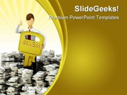 Success Key Finance PowerPoint Templates And PowerPoint Backgrounds 0211
